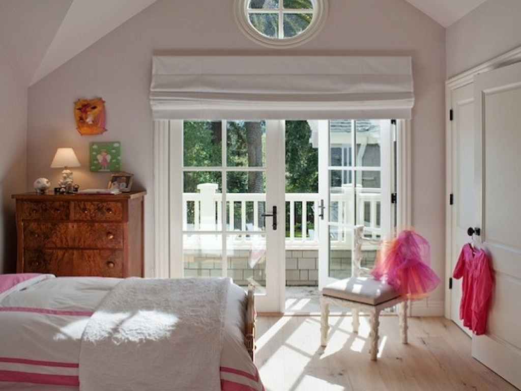 Window Treatment For French Doors Bedroom — Built With ...
