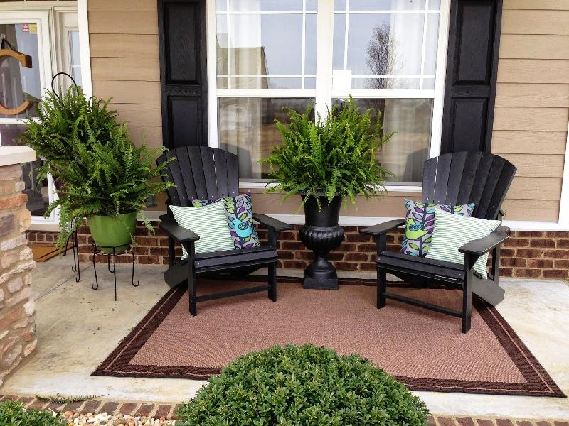 Front Patio Furniture.Great Outdoor Front Porch Furniture Ideas Built With Polymer