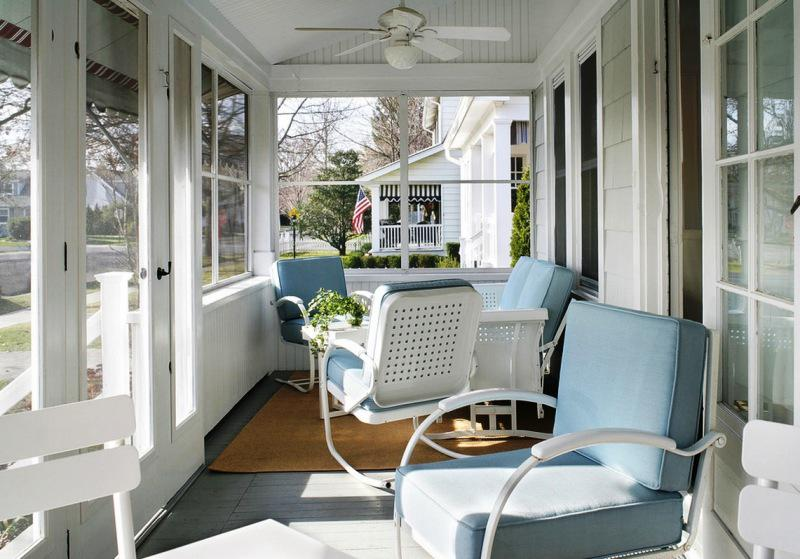 Front Patio Furniture Ideas.Retro Front Porch Furniture Ideas Built With Polymer Design