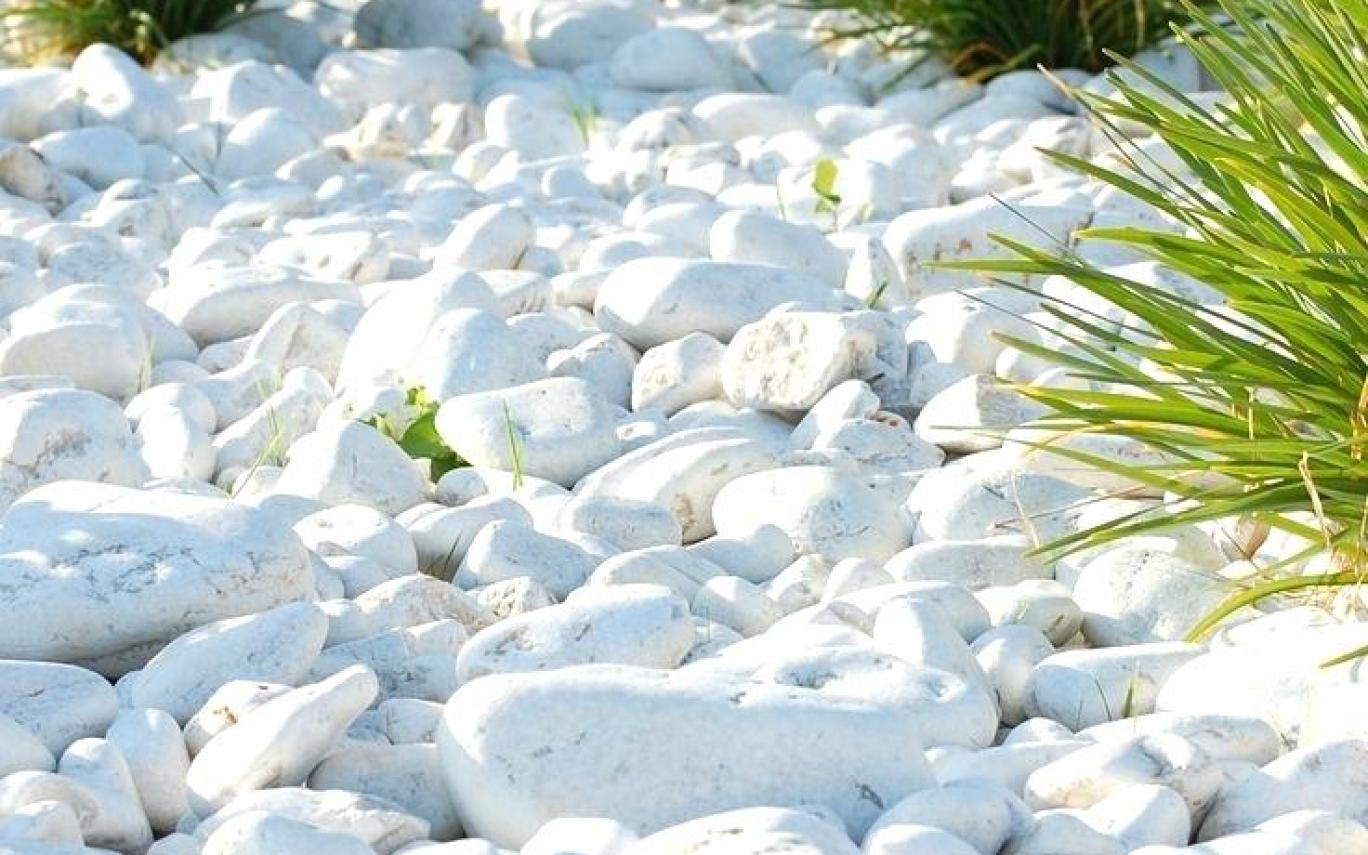 White Landscaping Rocks For Sale Near Me Built With Polymer Design